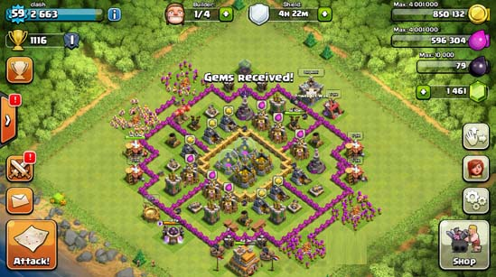 gems-received {focus_keyword} Cara Mudah Dapat Gems Gratis di Clash of Clans gems received