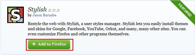 Mozilla Theme Facebook