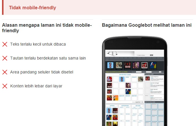 Not Mobile Friendly