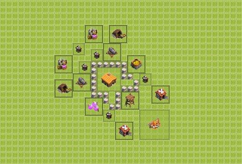 Base Town Hall 2 Clan War