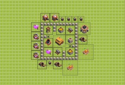 Base Town Hall 3 Clan War