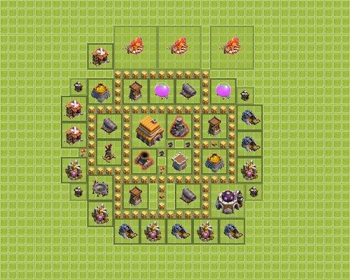 Base Town Hall 5 Clan War