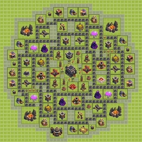 Base Town Hall 9 Clan War