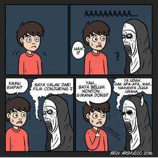 meme lucu valak the conjuring 2