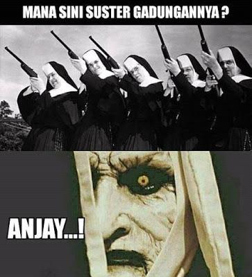meme lucu valak the conjuring 39